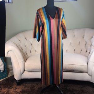 ZARA colorful striped tunic-dress